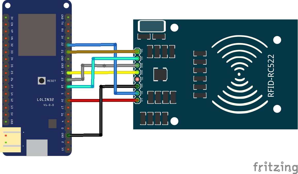 ESP32 and RFID-RC522 module example #esp32 #microcontrollers