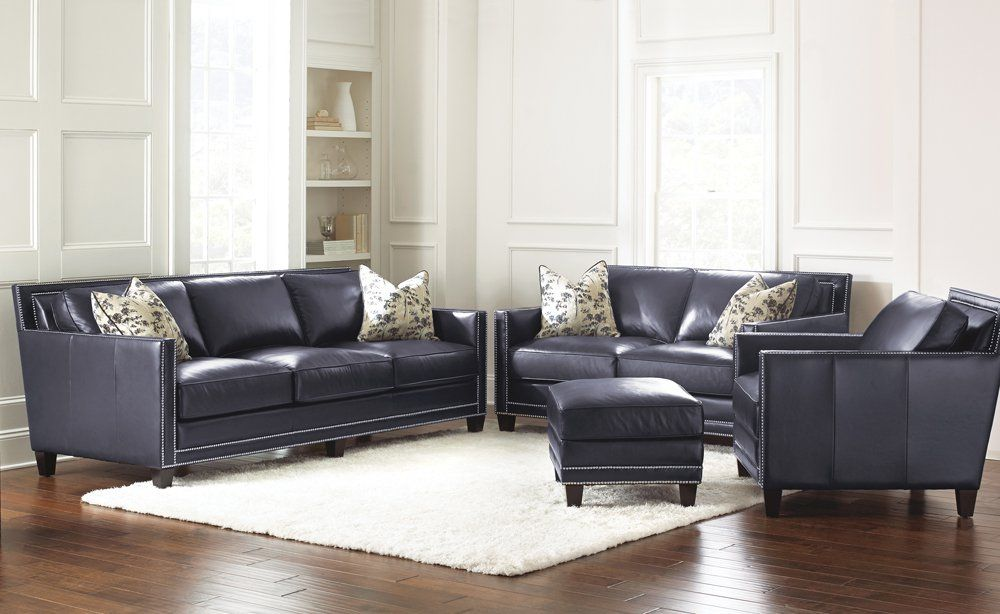 Navy Blue Leather Sofa Ideas For Your Home Leather Living Room Set Leather Couches Living Room Living Room Leather