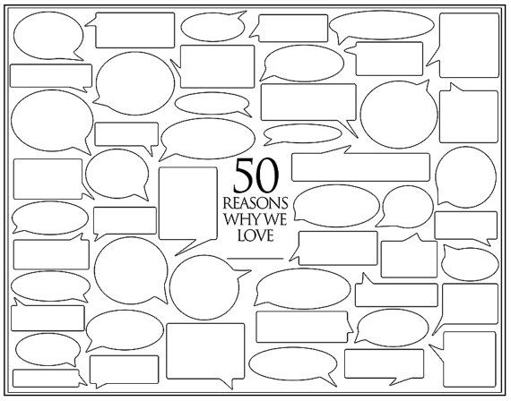 personalized birthday present 50 reasons we love you template