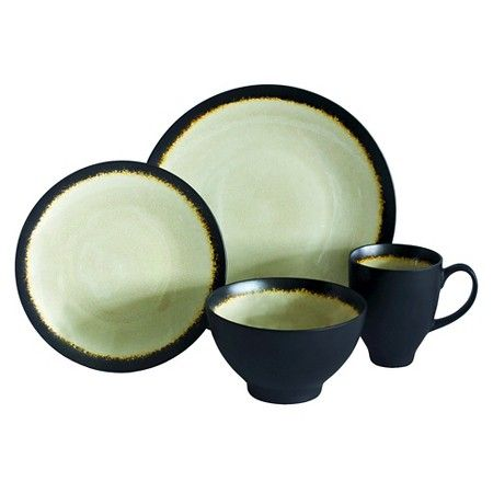 Baum Bros. 16-pc. Galaxy Coupe Sand Dinnerware Set | Dinnerware and ...