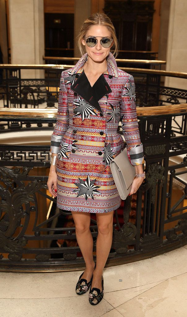 Olivia Palermo isn't too shy to wear major prints