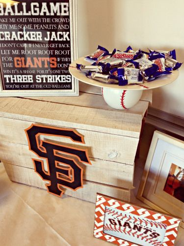 Baseball Themed Party San Francisco Giants 5th Birthday Ideas 30th