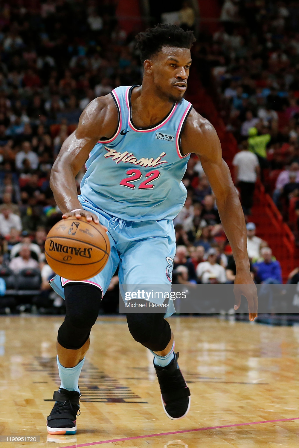Jimmy Butler Of The Miami Heat Dribbles With The Ball Against The Miami Heat Miami Heat Basketball Miami Heat Game