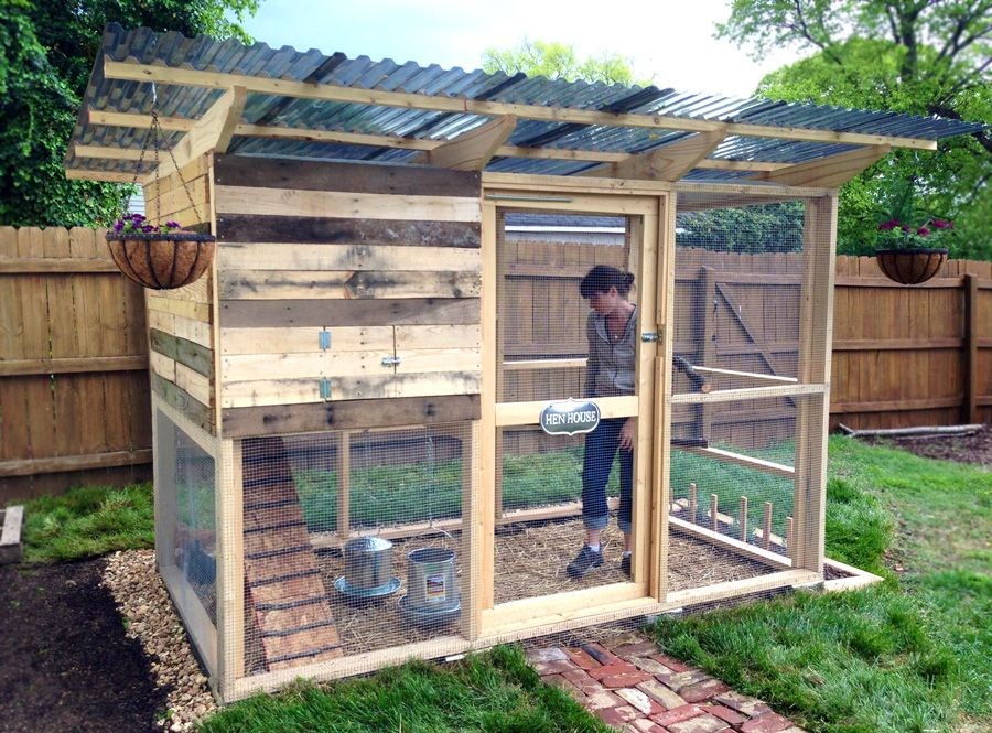 Garden Coop From DIY Chicken Coop Plans Chickens Pinterest - Chicken co op with flowers