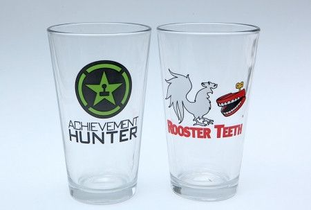 Achievement Hunter/ Rooster Teeth pint glasses  $19 95   gift ideas