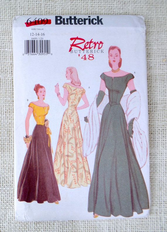 Butterick 6409 Reproduction 1947 pattern Bust 34, 36, 38 off ...