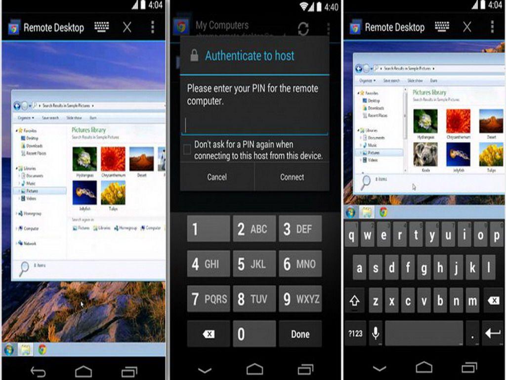 La aplicación permite a los usuarios de Android controlar a distancia cualquier computadora vinculada con el dispositivo