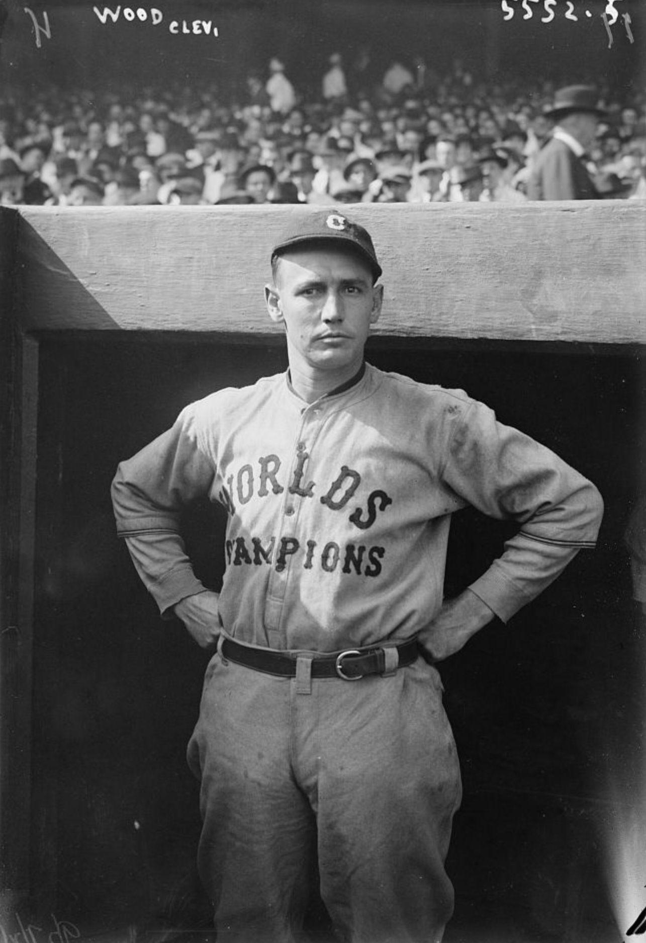 Smokey Joe Wood Cleveland Indians Baseball Baseball