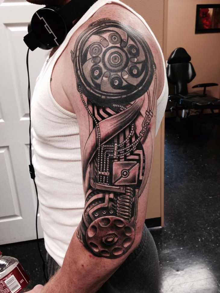 Biomechanical Arm Sleeve tattoos, Biomechanical tattoo