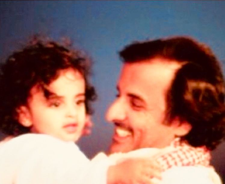 Hh Emir Tammi With His Daughter Nayla Doha Cat Day Couple Photos Photo