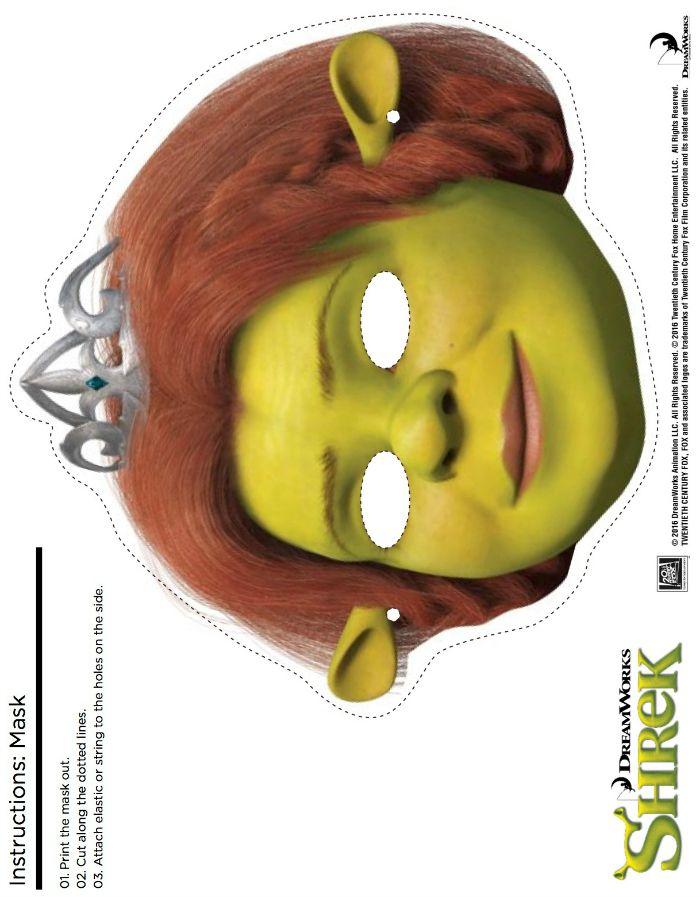 Free Shrek Printable Fiona Mask Craft Mama Likes This Masks Crafts Princess Fiona Shrek