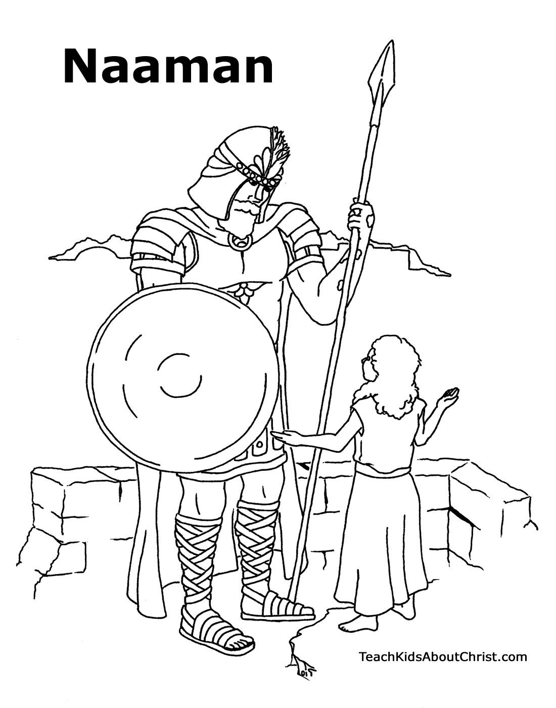 Naaman coloring sheet | Sunday school coloring pages, Sunday ...