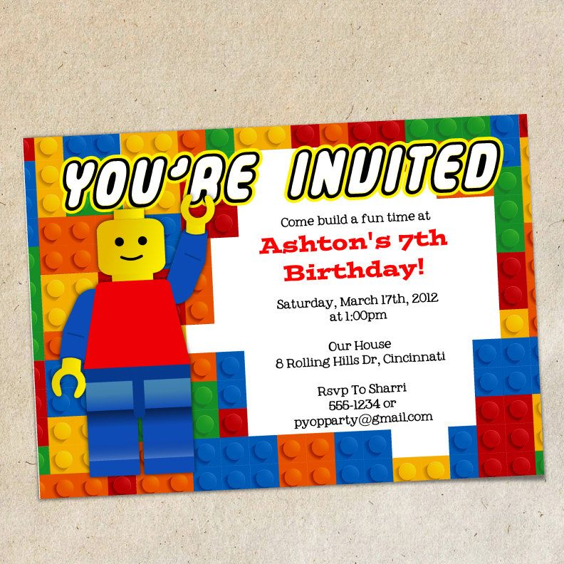 lego party invitation printable - Google Search | lego Party | Pinterest