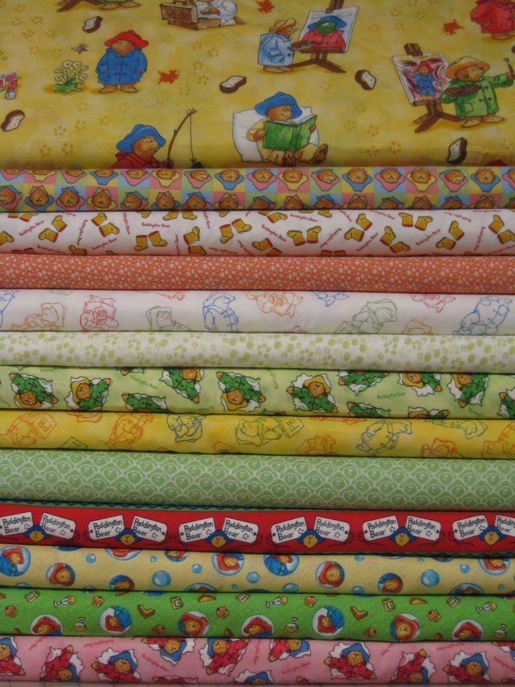 Paddington Bear Fabric BTY yard 36x44 Upick teddy quilt baby ... : paddington bear quilt - Adamdwight.com