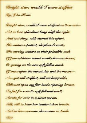 Bright Star : John Keats | Influential Poets/poems | Pinterest ...