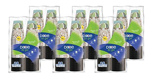 Dixie To Go Paper Cups and Lids Pack of 6  156 count ** You can find out more details at the link of the image.