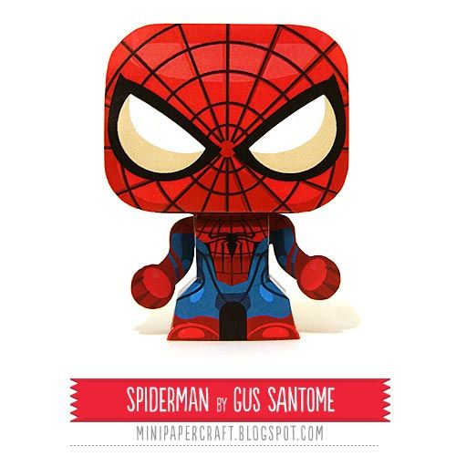 Spider Man And Venom Mini Paper Craft Spiderman Paper Toys