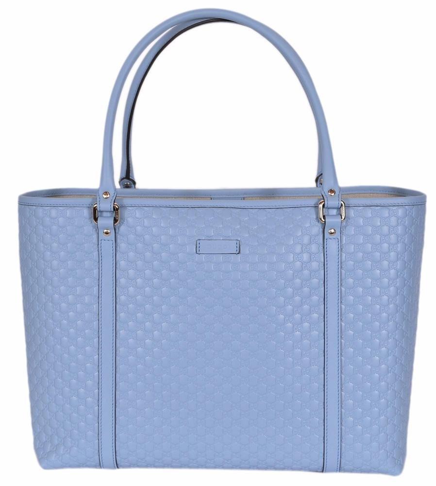 87a84d461c1de2 NEW Gucci 449647 Light Blue Leather Micro GG Guccissima Joy Purse Handbag  Tote  Gucci  TotesShoppers