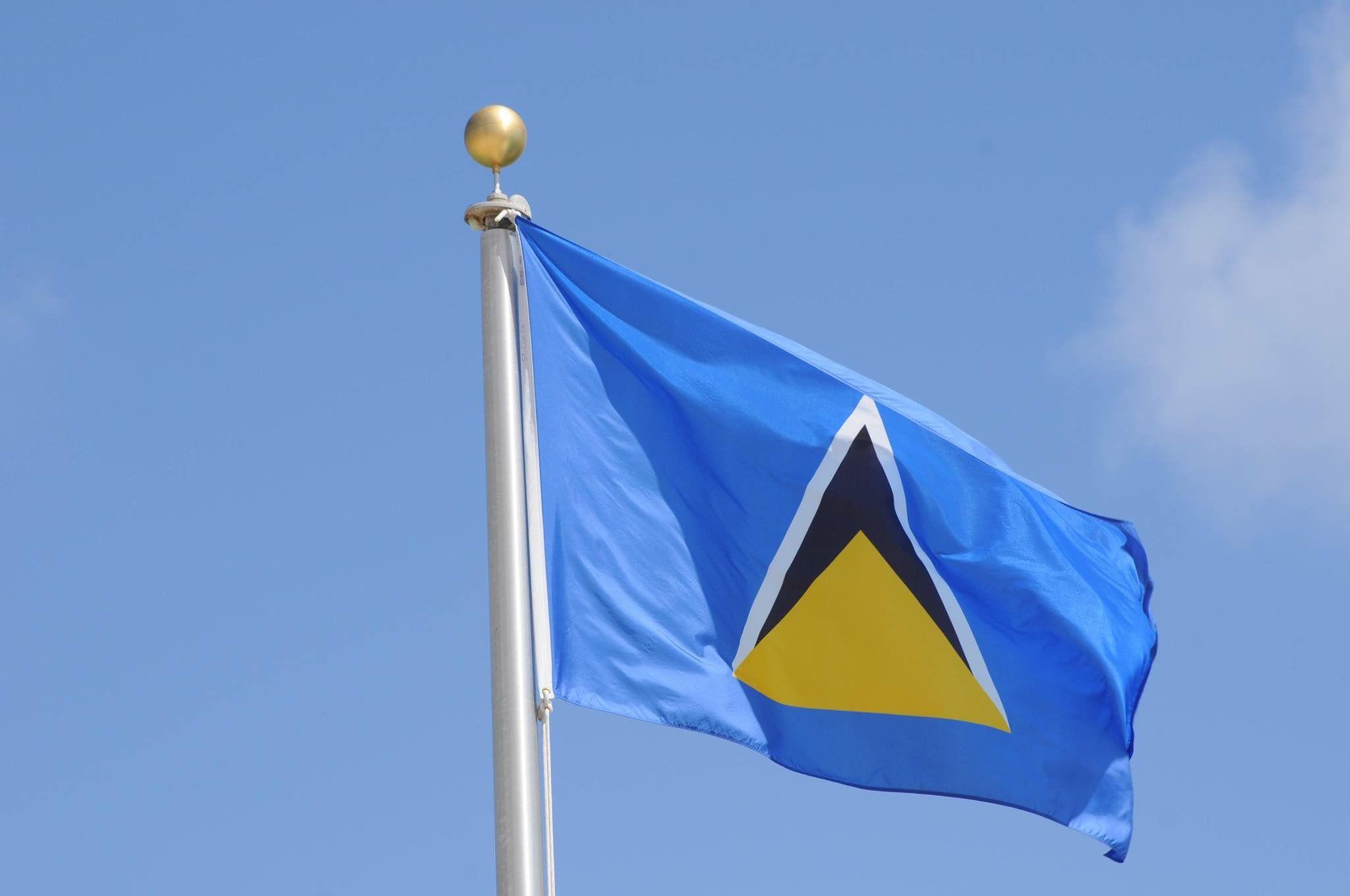 St Lucia Flag St Lucia St Lucia Caribbean Lucia