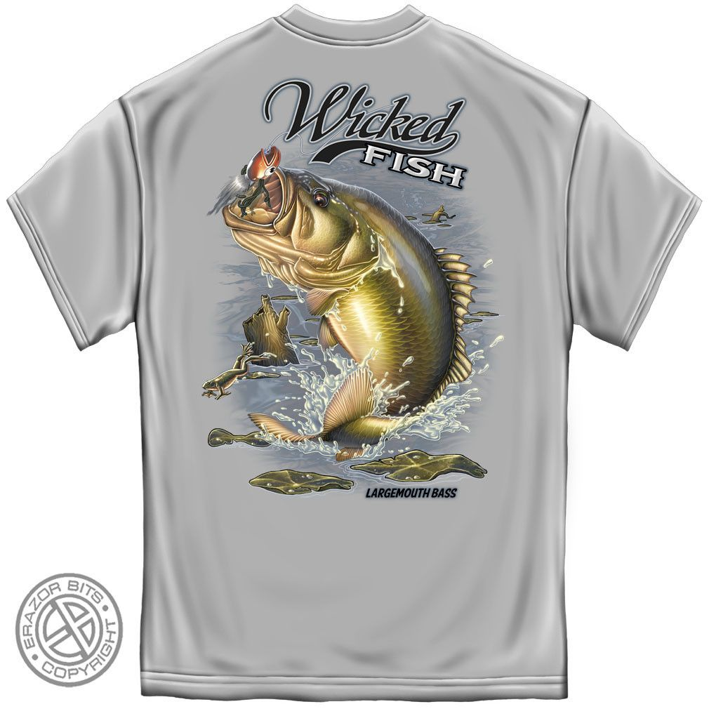 Largemouth bass wicked fish great looking t shirts all for Bass fishing hoodies