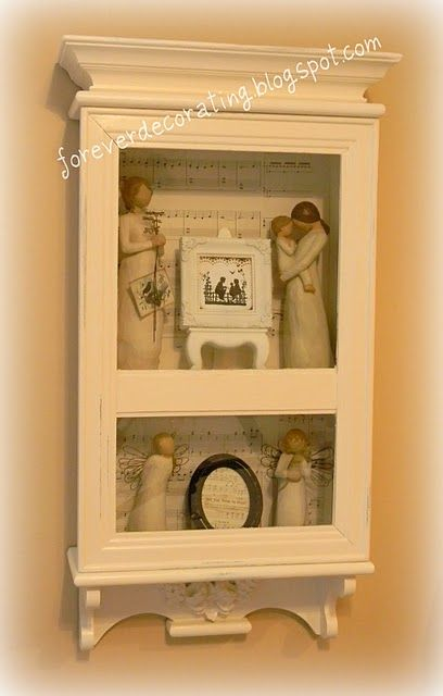 Display case DIY. Be on the lookout. | Shabby chic | Pinterest ...