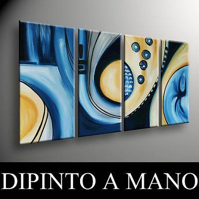 Quadri moderni dipinti a mano intelaiati e pronti da for Quadri moderni astratti dipinti a mano