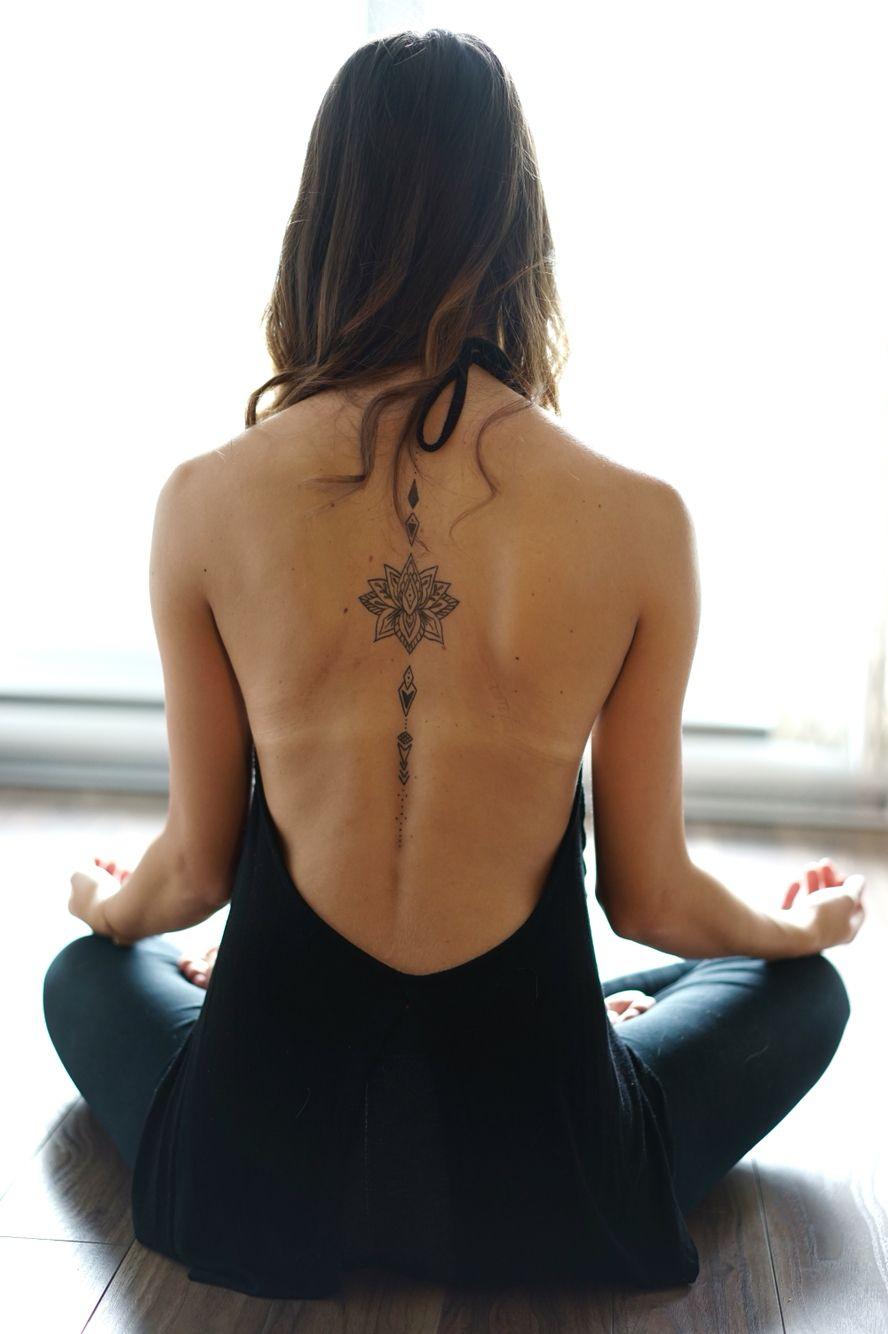 Lotus tattoo, Yoga Credit photo : Louis-Charles Bourgeois