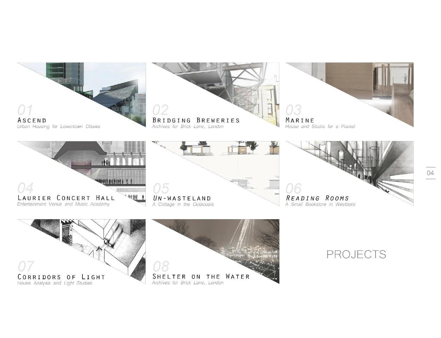 Architecture Portfolio Cover Page Design Google Search