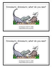 Dinosaur printable book