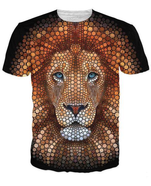3e45cd240 Lion Face T-Shirt Mens Polo T Shirts, Girls Tees, Crew Neck Sweatshirt