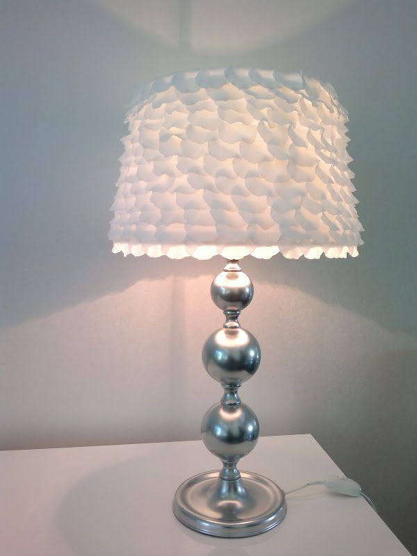 Lamp Shade makeover (with rose petals)