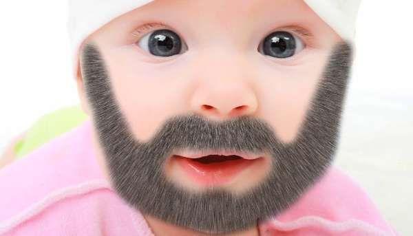 Facial hair has infant