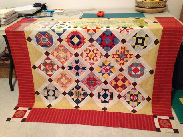 A Nostalgic Knot - My quilting on-the-run