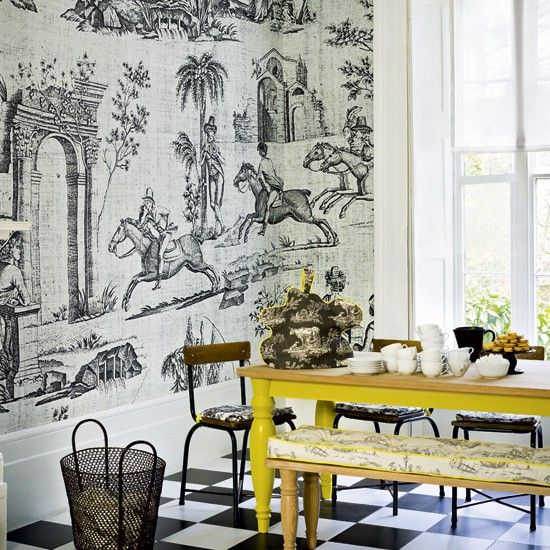 10 Of My Favorite Modern Toile Wallpaper Patterns