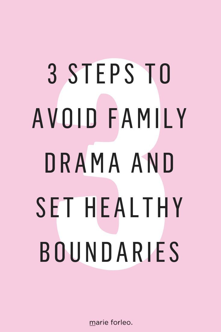 3 Steps to Avoid Family Drama and Set Healthy Boundaries