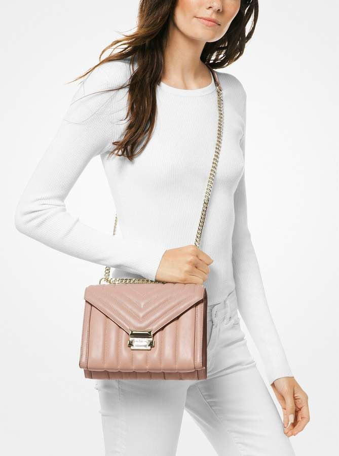 e762b0f38823 MICHAEL Michael Kors Whitney Large Quilted Leather Convertible Shoulder Bag
