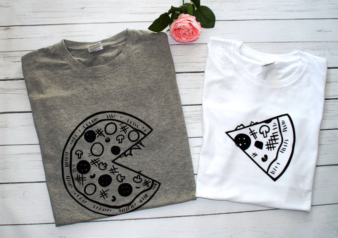 Koszulki Dla Pary Pizza With Images Koszulki Smieszne