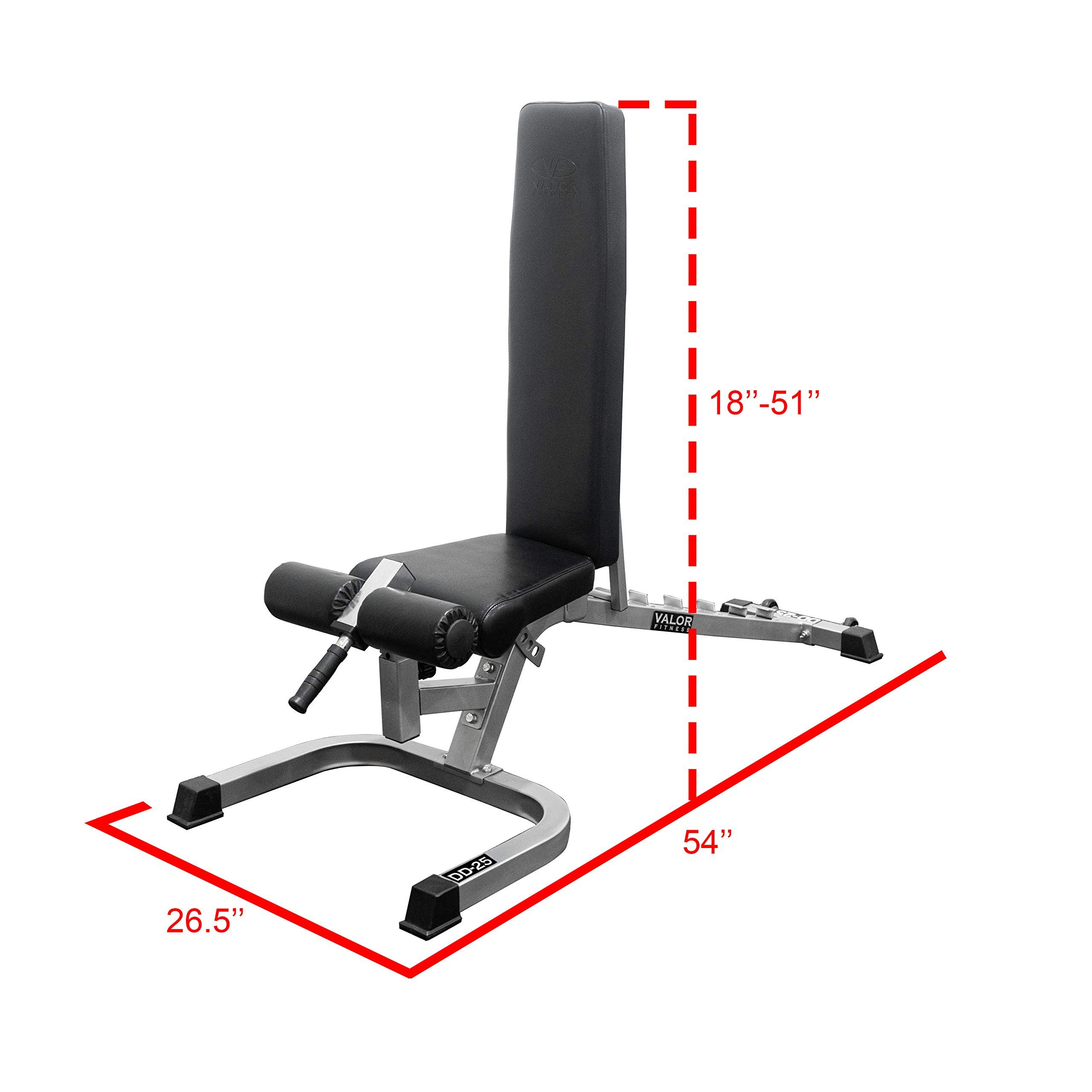 Amazon Com Valor Fitness Dd Adjustable Flat Incline Decline Bench With Leg Support 7 Position Back Pad In 2020 Adjustable Weight Bench Weight Benches At Home Gym