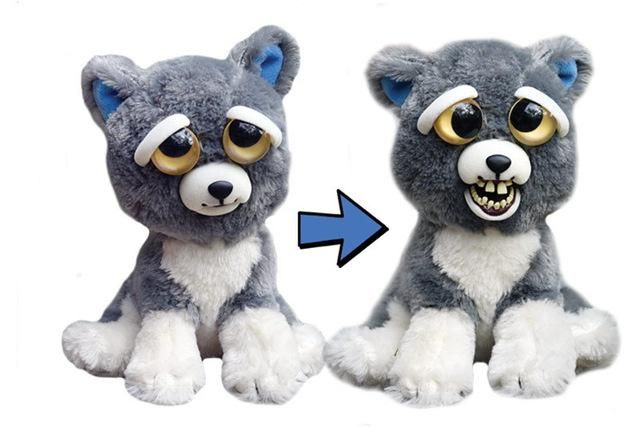 Feisty Pets Scary Face Changing Plush Toy Pet Toys Pets Toys