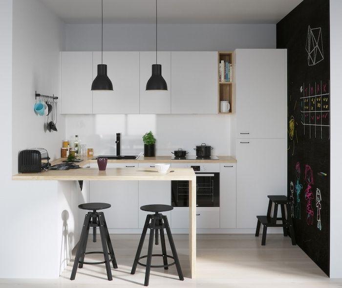 1001 conseils et id es pour am nager une cuisine moderne blanche cuisine pinterest. Black Bedroom Furniture Sets. Home Design Ideas