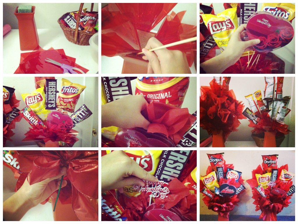 Valentine's Day DIY Gifts for Him. Junk Food Bouquet. I made ...