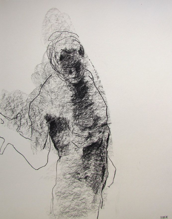 """Gestural Male Figure Drawing - 11 x 14"""", from life - Drawing 78 - graphite on paper - original drawing. $50.00, via Etsy."""