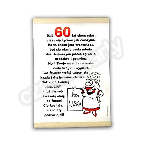 Znalezione Obrazy Dla Zapytania życzenia Urodzinowe Dla 60