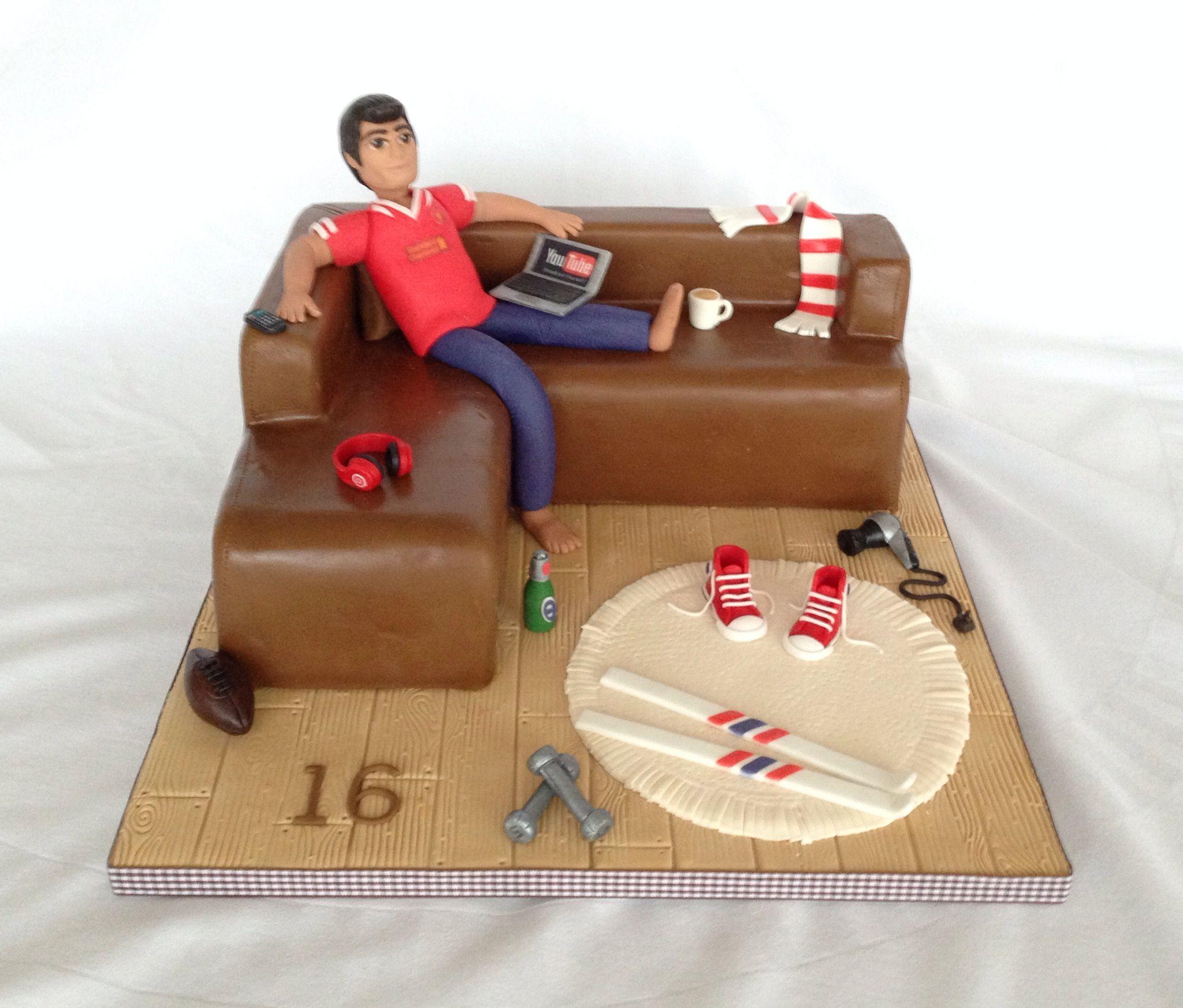 Sofa cake cake Pinterest Cake Bed cake and Man cake