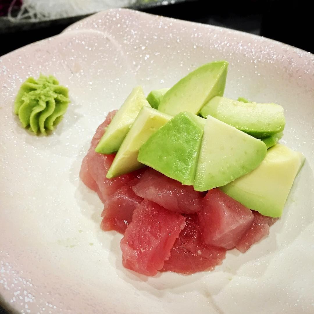 Tuna with Avocado #atas #dinner #japanese #kaiseki #cuisine by maigau