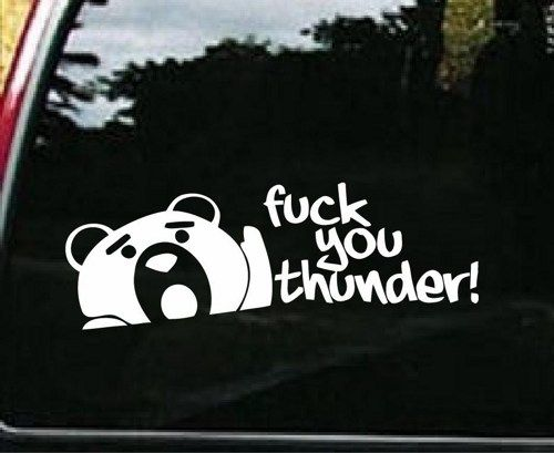 Thunder Buddy Funny Fck You Thunder TED Custom Decal Sticker - Custom decal stickers for cars