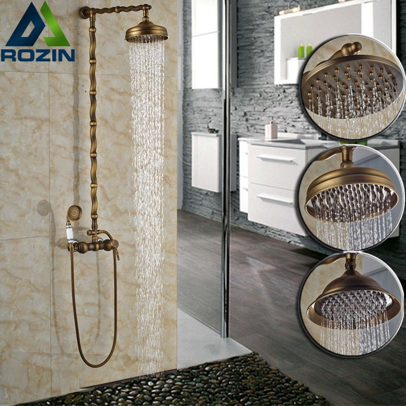 European Style Twist Pipe Outdoor Wall Mount Shower Faucet Single ...
