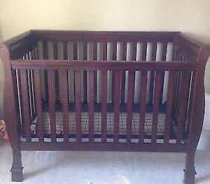 furniture cribs crib icon cherry hi changer black pin espresso n sonoma baby delta