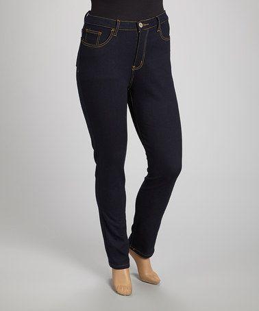 3bc4240c18d Dark Indigo Flood Skinny Jeans - Plus by be-girl  zulily  zulilyfinds