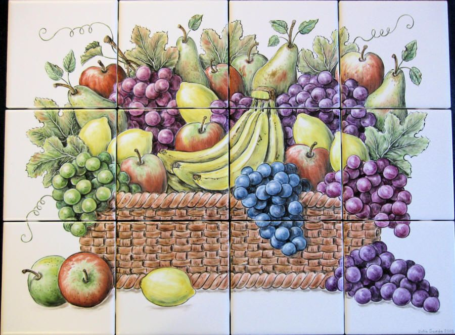 Mural Tiles For Kitchen Decor Mural Painted Tile For Kitchens  Tile Mural Hand Painted On 6 X 6